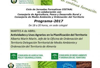 Jornada sobre Actividades y Usos Agrarios en la Planificación del Territorio