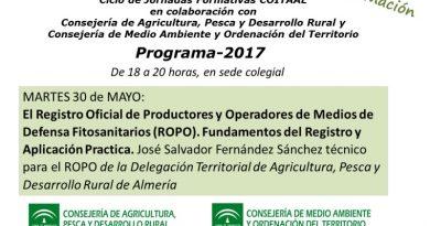 Jornada sobre el Registro Oficial de Productores y Operadores de Medios de Defensa Fitosanitarios (ROPO)
