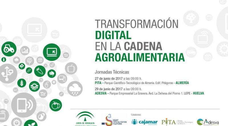Jornadas de sobre Transformación digital en la cadena agroalimentaria