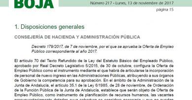 Nueva convocatoria de oposiciones a la Junta de Andalucia y la Administración del Estado