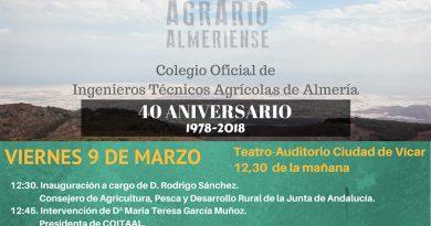 Acto en el Auditorio de Vicar. Los Ingenieros del Modelo Agrario Almeriense