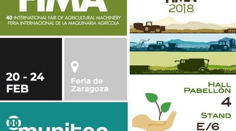 MUNITEC estará presente en la feria de maquinaria agrícola de Zaragoza FIMA