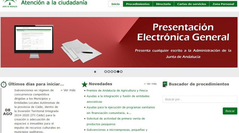 Guía para la presentación telemática de documentos a la Junta de Andalucía