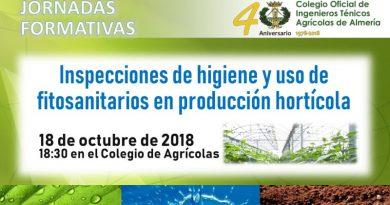 Jornada formativa sobre Inspecciones de Higiene y Uso de Fitosanitarios en Producción Hortícola