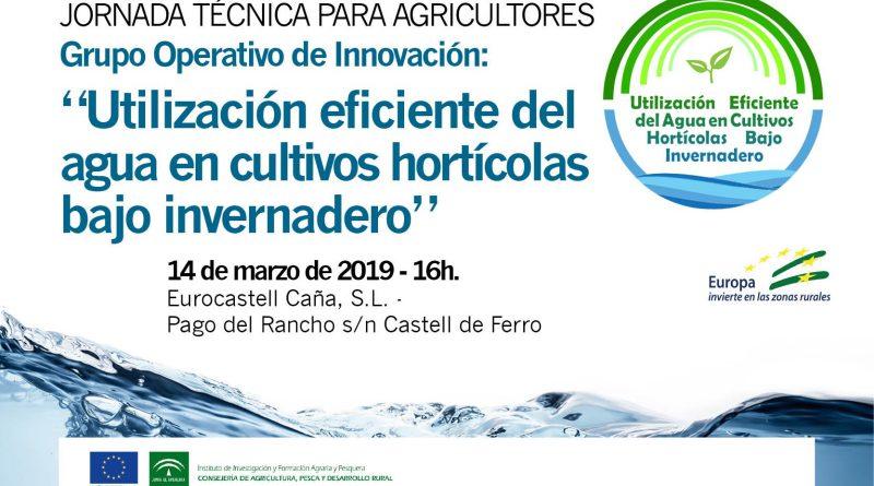 Jornada sobre el uso eficiente del agua en cultivos hortícolas